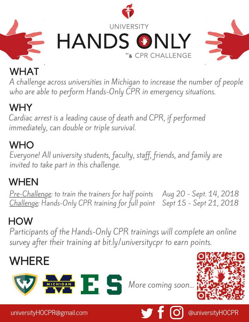 hands-only CPR flier